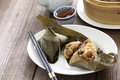 Zongzi, chinese rice dumpling Royalty Free Stock Photo