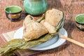 Zongzi or sticky rice dumpling Royalty Free Stock Photo