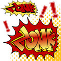 Zonk Comic Book Text Royalty Free Stock Photography