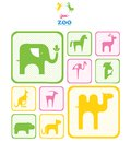 Zoo abstract emblem or logo Stock Image