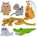 Zoo animals. cartoon mammal Royalty Free Stock Image
