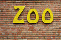 Zoo sign Stock Image