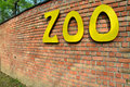 Zoo sign on the wall Royalty Free Stock Images
