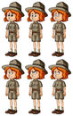 Zookeeper with different emotions