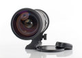 Zoom camera lens on white background Royalty Free Stock Images