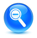 Zoom out icon glassy cyan blue round button Royalty Free Stock Photo