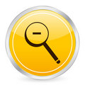 Zoom out yellow circle icon Royalty Free Stock Images