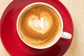 Zoomed cup of coffee with foam heart illustration Royalty Free Stock Photos