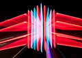 Zoomed neon sign Royalty Free Stock Photos