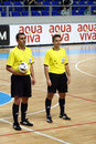 Zrenjanin serbia march qualifications uefa futsal euro group referees arsen nonikashvili balazs farkas photo photo taken march Stock Photos