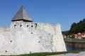 Zrinski castle detail of hrvatska costajnica croatia Royalty Free Stock Images