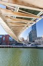 Zubizuri Bridge of Calatrava in Bilbao Royalty Free Stock Photos