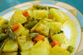 Zucchine in umido con uova italian cuisine steamed zucchini with spices Stock Image