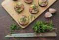 Zucchini bites with cheese garlic and parsley Stock Image
