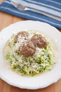 Zucchini Noodles with meatballs Royalty Free Stock Image