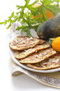 Zucchini pancakes Royalty Free Stock Images