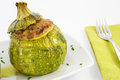 Zucchini stuffed with meat Royalty Free Stock Image