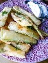 Zucchini chips Royalty Free Stock Photo