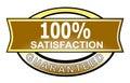 Zufriedenheit 100% garantiert Stockbild