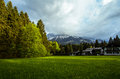 Zugspitze germany in alps highest mountain in Stock Photography