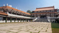 Zulai budhist temple sao paulo brazil the main square of the in cotia state with its large stairs and adorned white fences Royalty Free Stock Photo