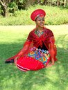 Zulu Maiden Bride Royalty Free Stock Photo