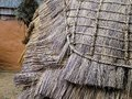 Shakaland, closeup of Zulu wooden hut with reed roof.  South Africa Royalty Free Stock Photo