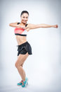Zumba Fitness Girl Royalty Free Stock Photo