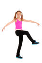 Zumba fitness with teen girl Royalty Free Stock Photo