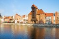 Zuraw and old waterfront gdansk oldest crane poland Royalty Free Stock Photos