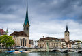 Zurich, Fraumunster church, Switzerland Royalty Free Stock Images