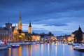 Zurich image of during twilight blue hour Stock Image