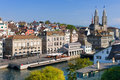 Zurich in september a sunny day Stock Images
