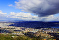 Zurich under clouds this shot was taken from the top of uetliberg Royalty Free Stock Image