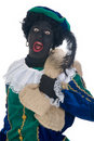 Zwarte Piet with bag Royalty Free Stock Images