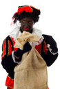 Zwarte Piet ( black pete)dutch character Stock Photo