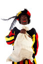Zwarte piet ( black pete) typical Dutch Stock Photography