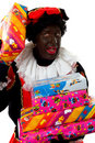 Zwarte Piet ( black pete) typical dutch character Stock Photos