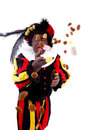 Zwarte piet ( black pete) typical Dutch character Royalty Free Stock Photos