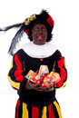 Zwarte piet ( black pete) typical Dutch character Stock Photo