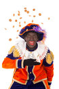 Zwarte piet ginger nuts typical dutch character part of a traditional event celebrating the birthday of sinterklaas in december Royalty Free Stock Photo