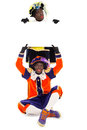 Zwarte piet sinterklaas black pete clipping path included typical dutch character part of a traditional event celebrating the Royalty Free Stock Image