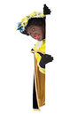 Zwarte piet sinterklaas black pete clipping path included typical dutch character part of a traditional event celebrating the Stock Photos