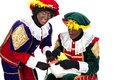 Zwarte piet sinterklaas black pete pieten typical dutch character part of a traditional event celebrating the birthday of in Royalty Free Stock Photography
