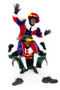 Zwarte piet sinterklaas black pete pieten typical dutch character part of a traditional event celebrating the birthday of in Stock Photos