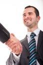 Zwei geschäftsmann shaking hands Lizenzfreie Stockbilder