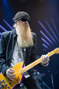 ZZ TOP performs on stage at Sportarena Stock Photo