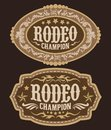 Rodeo Champion Cowboy belt buckle vector design Royalty Free Stock Photo