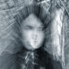 Portrait of a ghost girl. Closeup portrait of a ghost girl Stock Photo