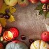 Thanksgiving border Stock Photo